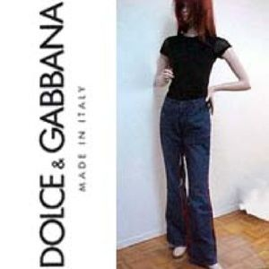 DOLCE AND GABBANA NWT$895 Retro Flare Jeans D&G 30
